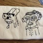 James' napkin doodle